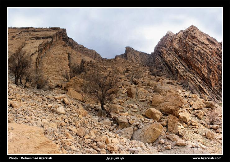 کوه لنگر در نزدیکی روستای لیوس - عکس : محمد آذرکیش